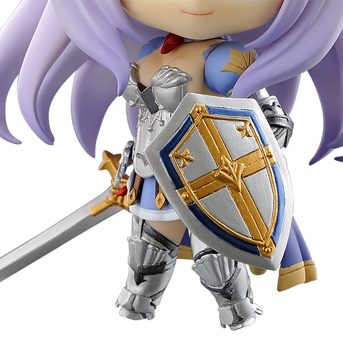 Her shield and armor