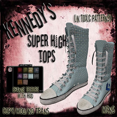 Kennedy's Mens Super High Tops-Toxic Patterns Ad-Guys