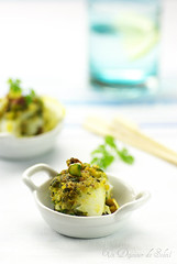 Involtini di pesce gratinati ai pistacchi