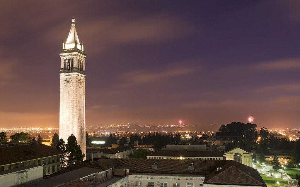 Fireworks and the Campanile