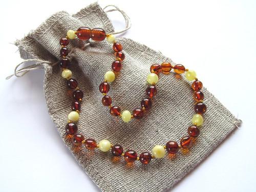 amber teething necklace by babyamberteething