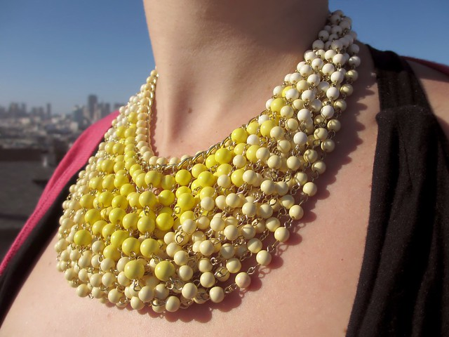 Statement of the Art Necklace in Yellow. (Photo by Pat Zimmerman.)
