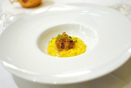 """""""Risotto alla Milanese"""" stewed ossobuco & lemon pistachio gremolata (Gino Angelini, Angelini Osteria)"""