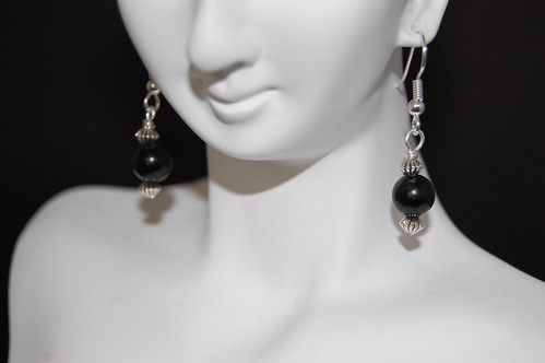 Obsidian and Silver Earrings