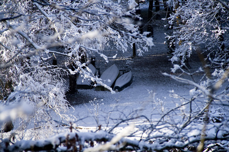 Snowy Canoes