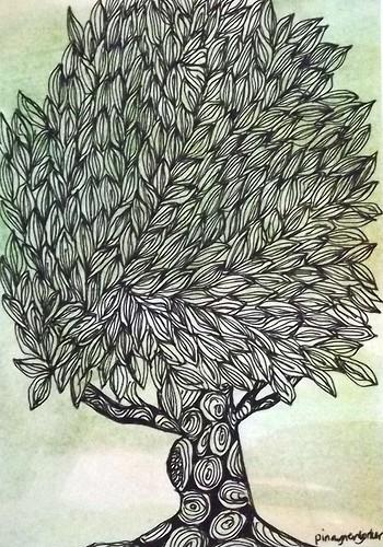 POSTCARD: Mail Art: Trees 2