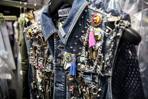 Embellished denim vest by Diesel