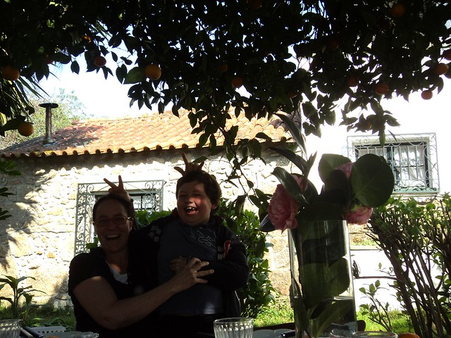 Hapiness weekend under the orange tree