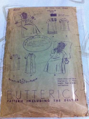 Butterick 6553 - pre 1948 (Australian release)