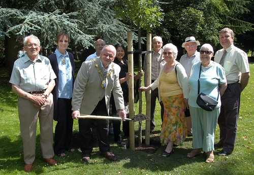 Planting an oak tree in Victoria Park, Tipton by MayorofSandwell