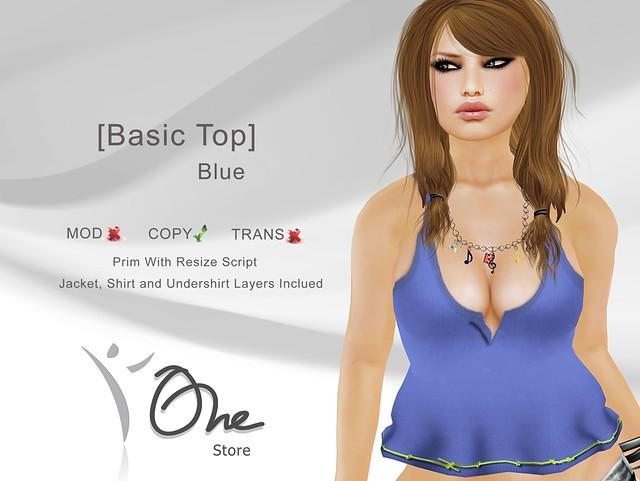 [Basic Top] Blue