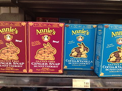 Annie's Gluten-free Gingersnaps and Cocoa & Vanilla Bunny Cookies