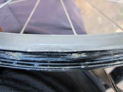 Bike Rim Repair Attempt - Looking better
