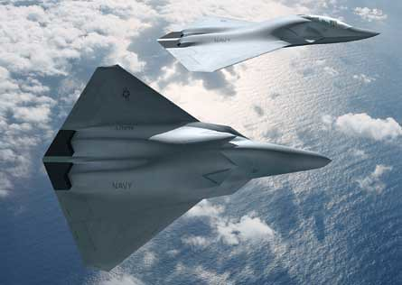 The F/A-XX: Stir aluminum and composite, add powdered unicorn horn to taste. Boeing concept art.