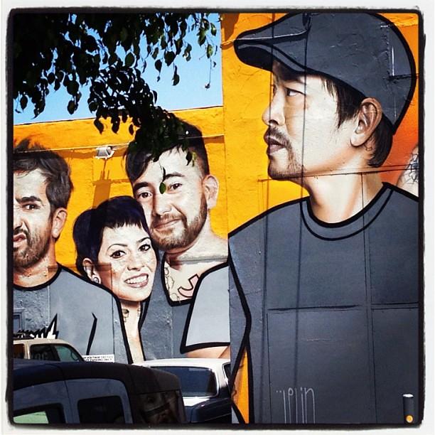 #mural by Spanish artist Belin on the back of Kat Von D's tattoo parlor. #belin #artist