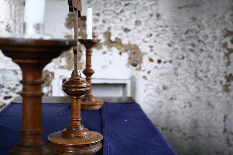 Altar/ Candle holders, Leper chapel