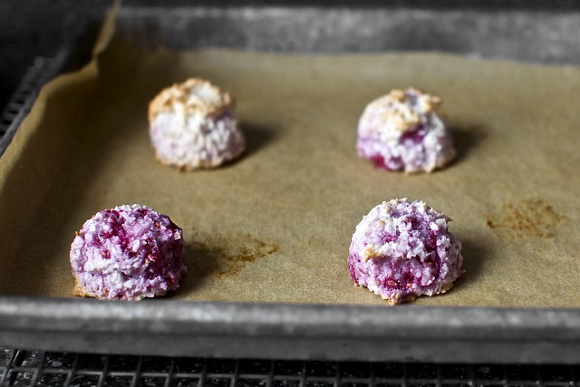 muddle raspberry coconut macaroons