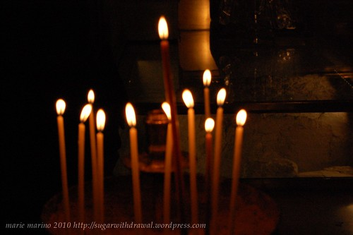 Candles at the Church of the Holy Sepulchre