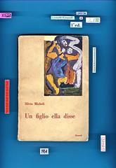 Silvio Micheli, Un figlio ella disse, Einaudi 1947. i coralli 5.  Copertina