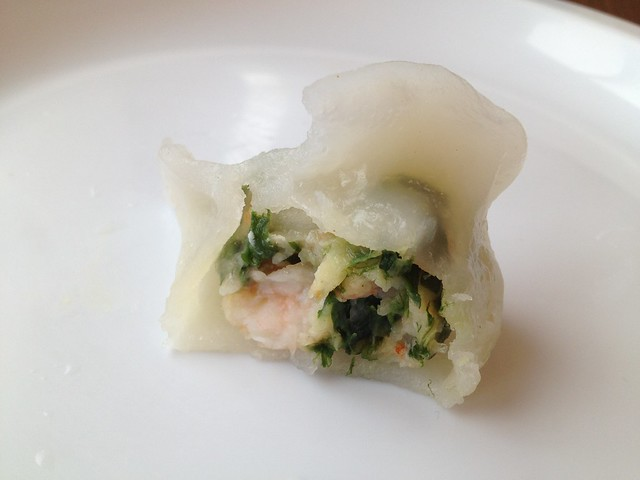 Green chives shrimp dumplings - Grand Palace Restaurant