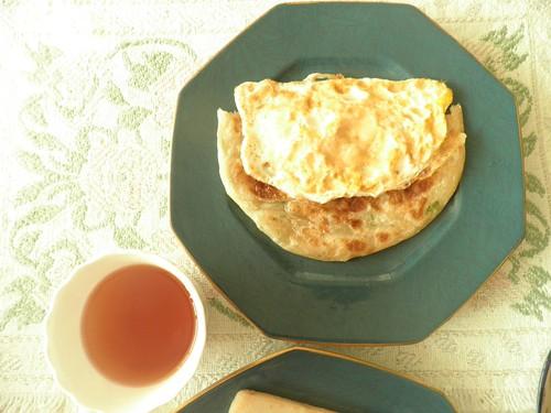 荷包蛋葱油餅