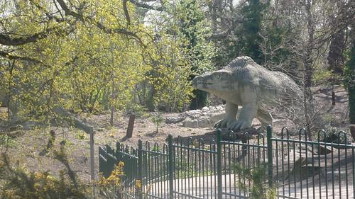 Toothy dinosaur at Crystal Palace