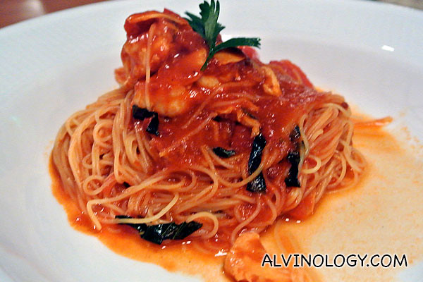 Capellini: Angel hair Pasta with Lobster Ragout 'Sardinia' style