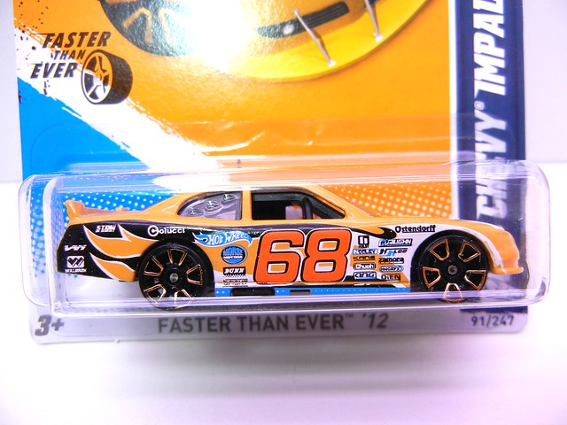 hot wheels 2010 chevy impala orange (3)