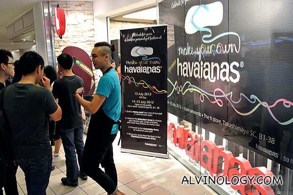 Make Your Own Havaianas @ h Store, Takashimaya
