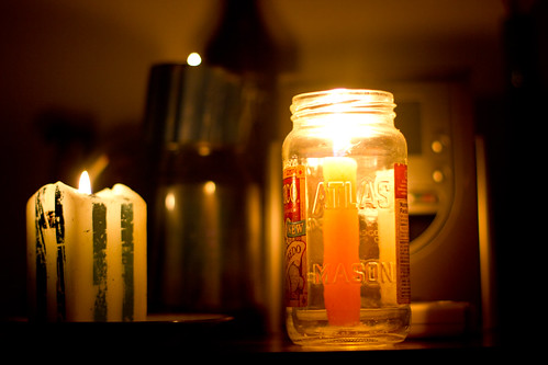 DIY Candleholder #1: the Mason Jar.