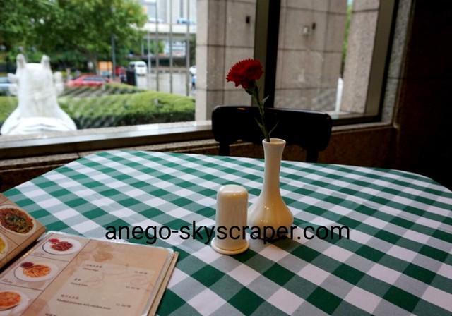 上海博物館の食堂にて