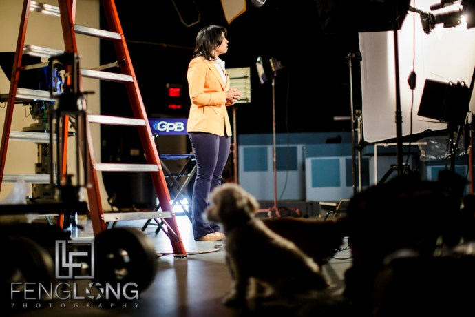 Behind the Scenes | On Location at GPB Studios | Atlanta Television Set Photographer