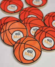 AllBall Basketball Academy custom cookies