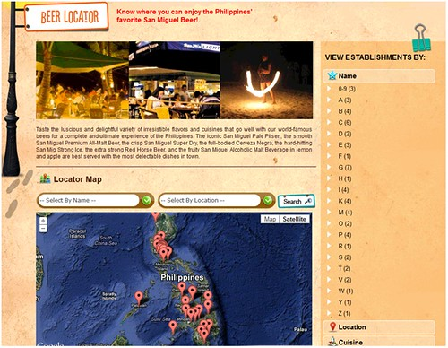 Beer Locator Page