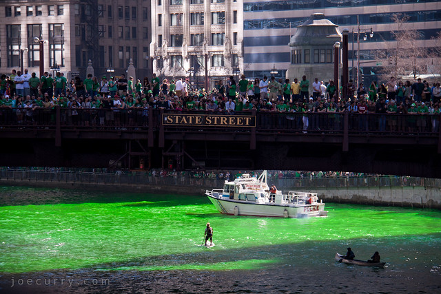 Chicago River, St. Patrick's Day, Dyeing of the River