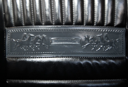 embossed Mustang herd in the leather of the seats
