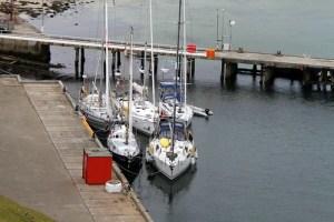 Her må man klumpe seg sammen, det kan være mange båter her samtidig...