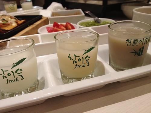 マッコリ飲み比べ@TEJI TOKYO 西新宿店
