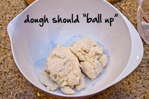 the dough should ball up
