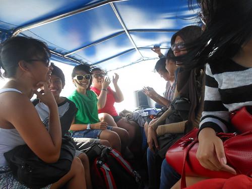 Speedboat menuju Derawan