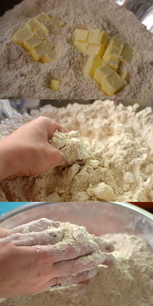 butter flour blend collage