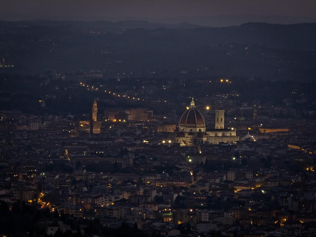 Firenze, Santa Maria del Fiore e Palazzo Vecchio.