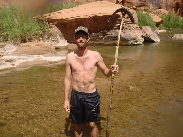 I speared a fish