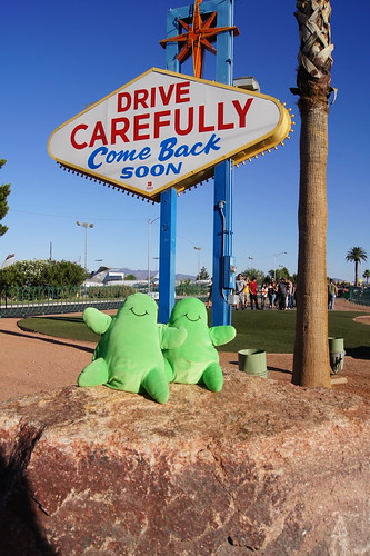 Drive Carefully Vegas Sign with Flubbers