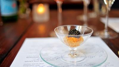 3rd Course: Smoked Local Caviar