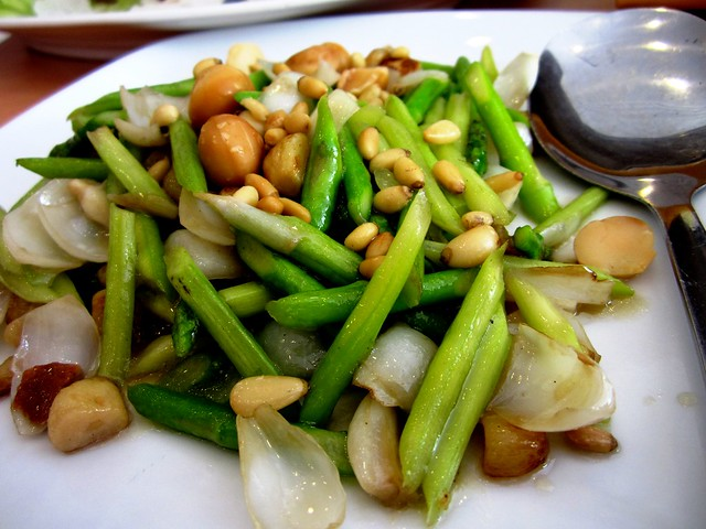 MSH asparagus with nuts