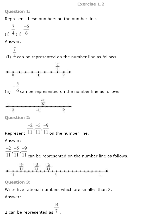 Rational Numbers Ncert Solution Class 8 Maths
