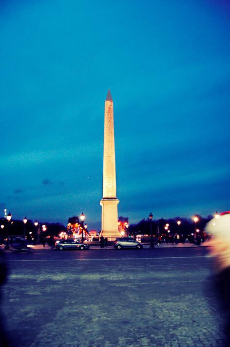 Paris, at night