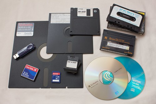 """Forty years of removable storage"" by Avaragado; From Flickr."