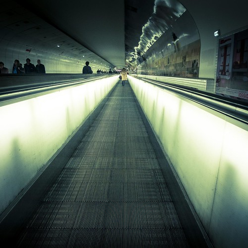 Urban Mythologies : Pathway to Hell (Metro Montparnasse, Paris) - Photo : Gilderic